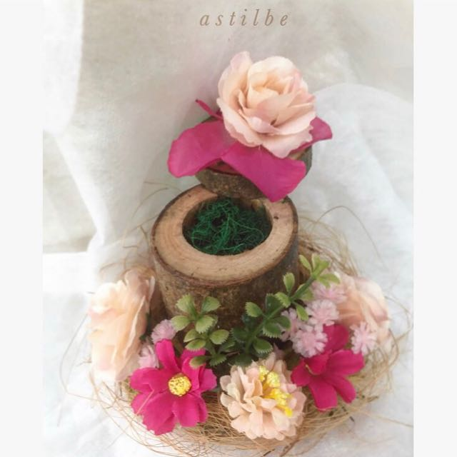 Rose Birdnest Wedding Ring Box