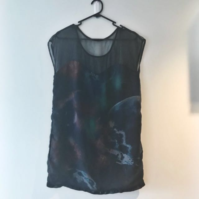 RUBY ROSE mesh space dress 💫👽
