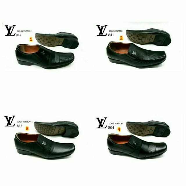 Sepatu pantofel lv louis vuitton formal kantor kerja pria cowok ... 804e071740