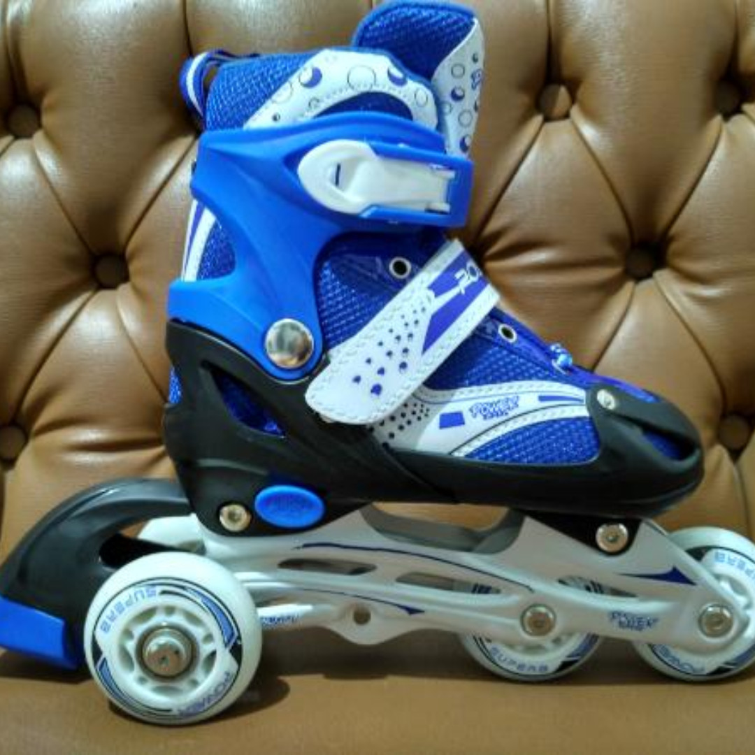 Sepatu roda inline skate bajaj power superB 6032 -biru- be63e24e13