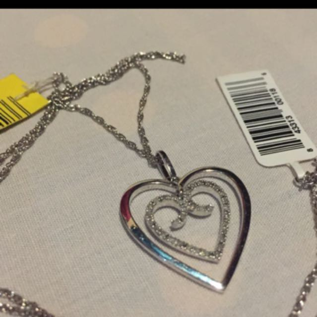 Silver heart Necklace 925