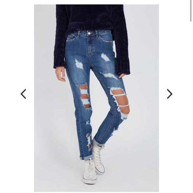 Size 6 boyfriend jeans
