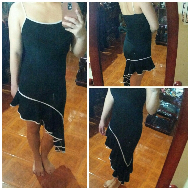 Slant bodycon dress
