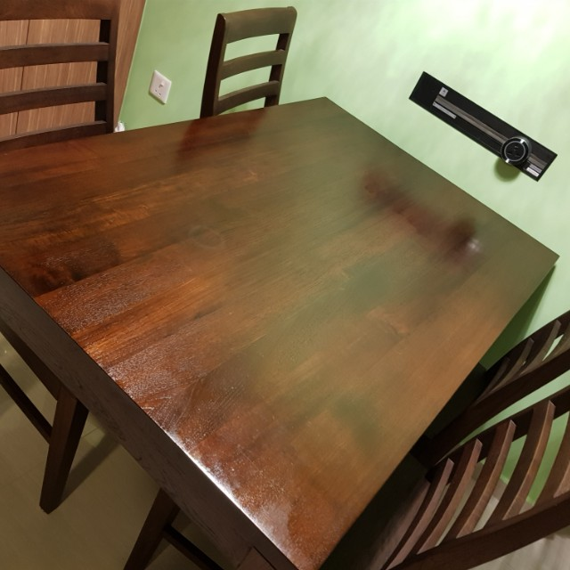 Solid Burmese Teakwood Table And Chairs Furniture Tables Chairs