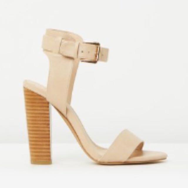 SPURR Nude Block Heels Size 10