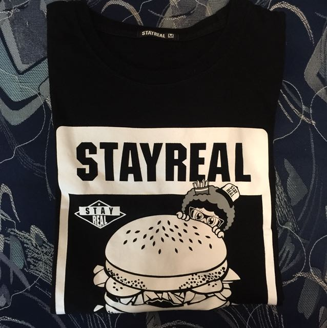 STAYREAL&麥當勞🍔。黑短T
