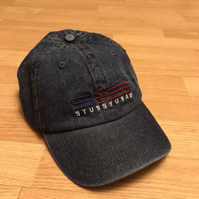(現貨)Stussy Denim cap 牛仔刺繡老帽