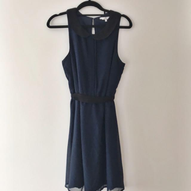 Super Cute Navy & Black Dress
