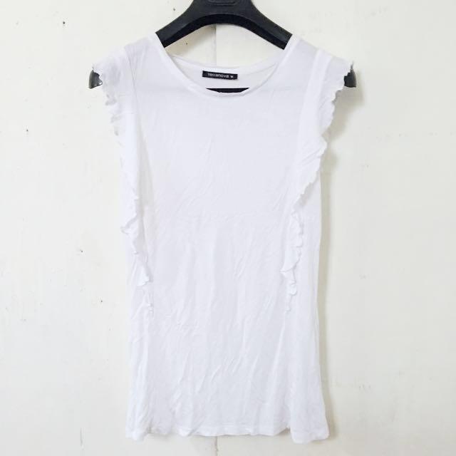 Terranova white ruffle blouse