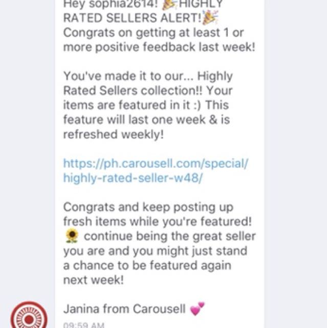 Thanks for the 5th time Carousell! ❤️❤️❤️