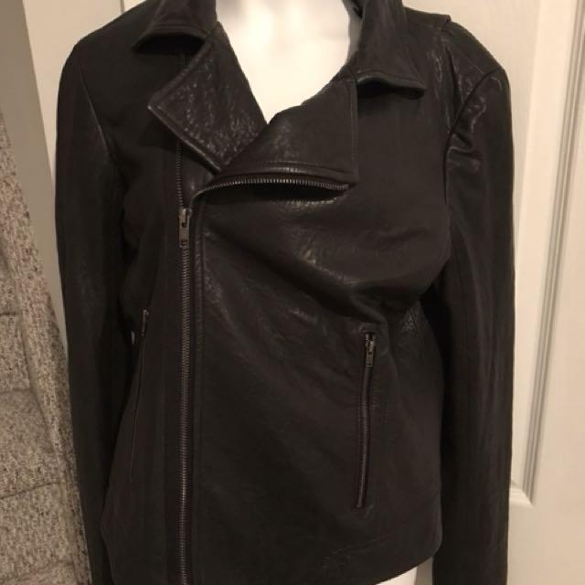 Theory leather jacket size small like aritzia