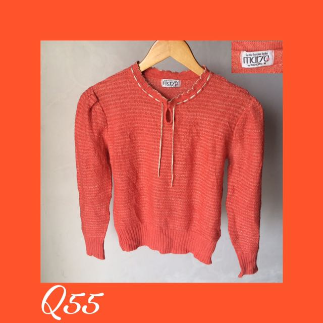 Top Rajut Orange