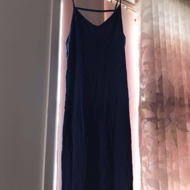 Top shop slinky blue dress 12