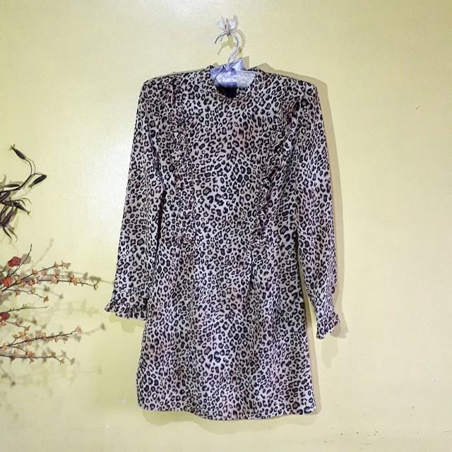 Topshop ruffle dress