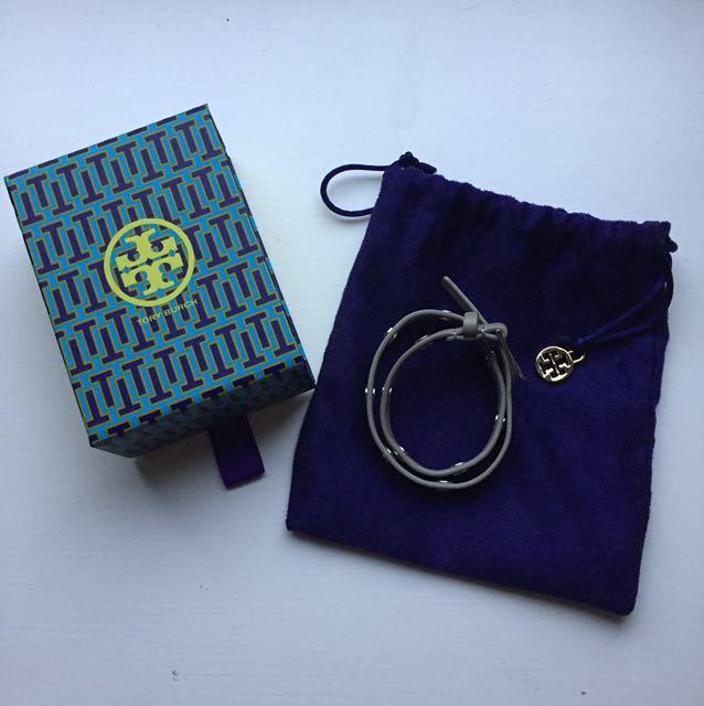 Tory Burch grey leather bracelet