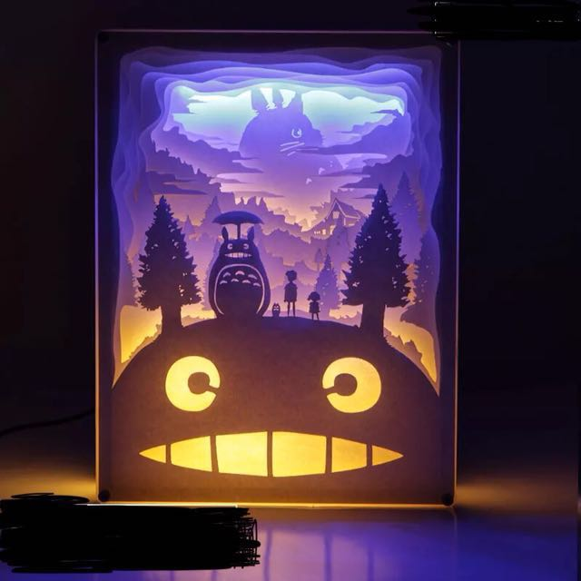 Totoro Lamp Totoro Light Birthday Gift Birthday Present Studio Ghibli Bedroom Lamp Night Light Nursing Lamp