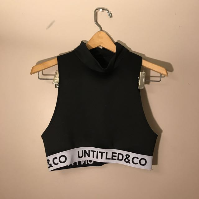Untitled&Co turtle neck crop top
