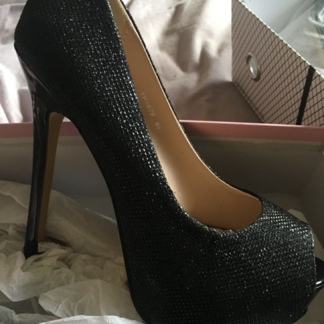 Verali High Heels (black Lurex)