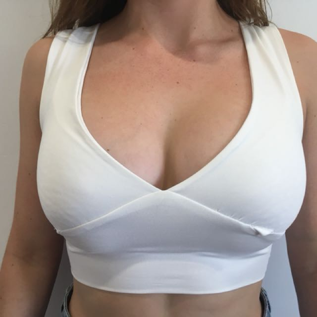 White Bralette Top