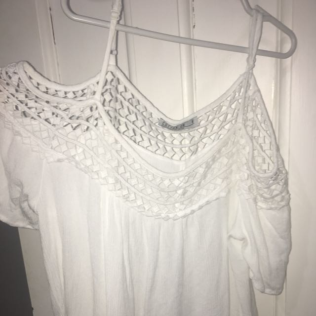 White off the shoulder