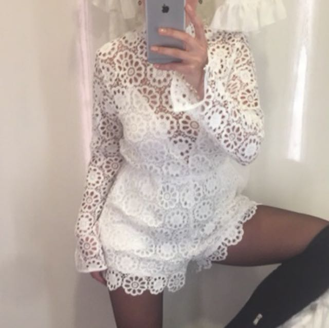 White playsuit size M