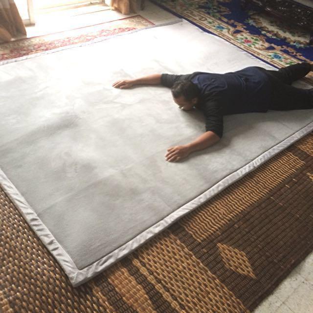 XXL Tatami Carpet Light Grey/Karpet Tatami Kelabu Saiz besar