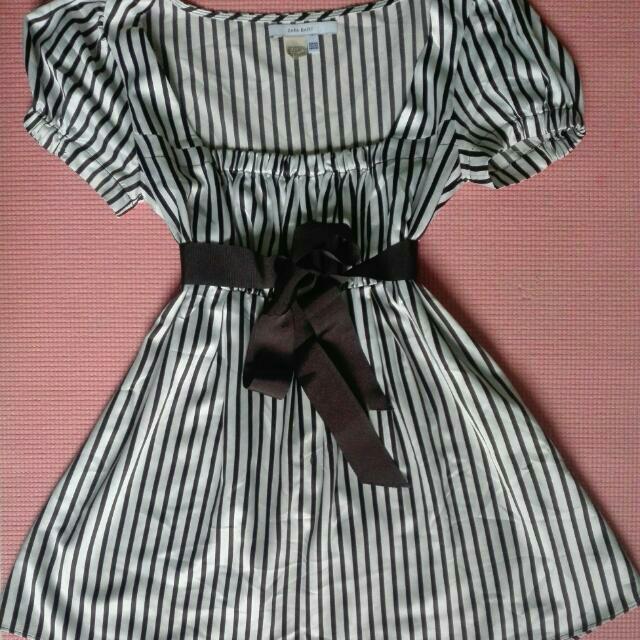 Zara Basic Stripe Tube Style Blouse