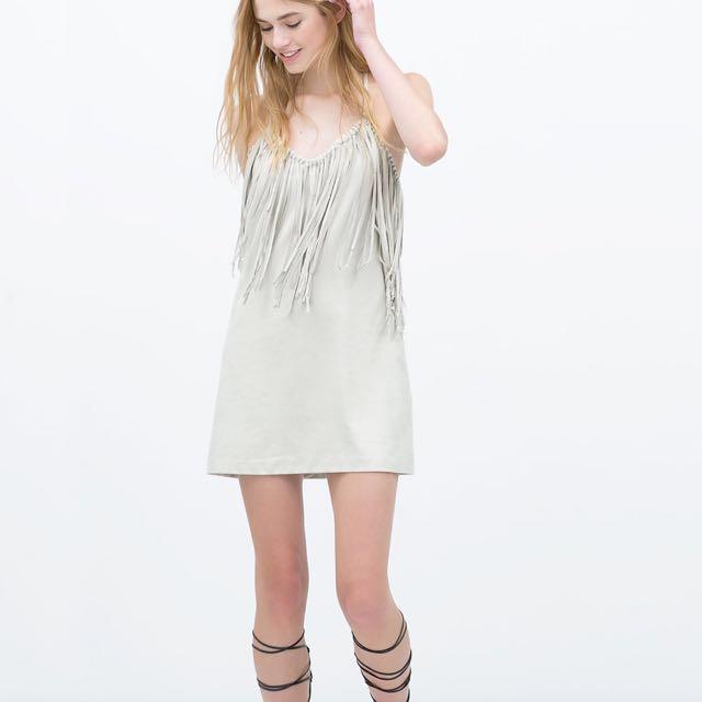 Zara suede mini dress