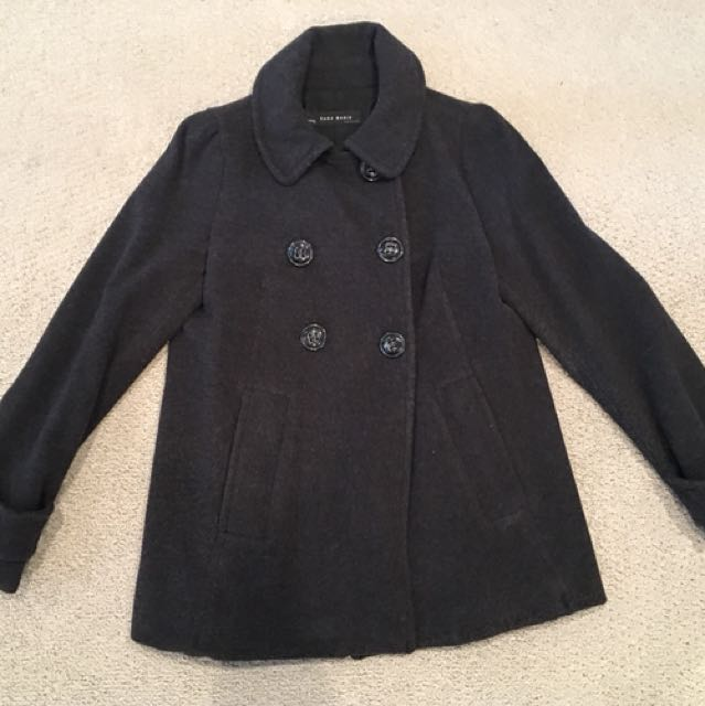 Zara women's wool peacoat