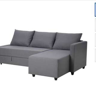 IKEA沙發床 3折下殺!10月購買幾乎全新 沙發顏色為喜氣的橘紅色