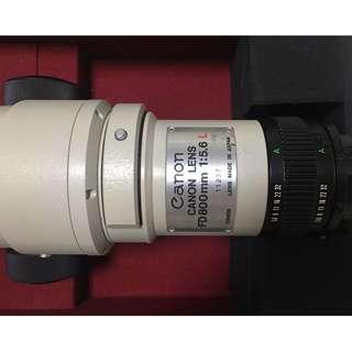 Canon L 800mm f/5.6 FD Lens