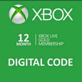 Xbox Live Gold 12 Month Digital Subscription Code Fully Verified