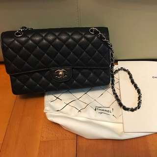 Chanel Black Caviar flap bag