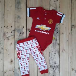 Manchester United Romper & Pants Set