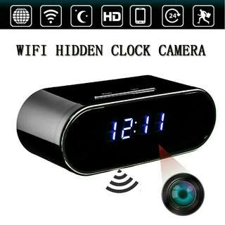 Alarm clock hidden ip camera with wi-fi connection to Mobile phones apps