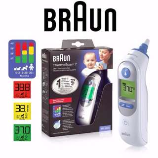 [SALES] Brand New and Authentic BRAUN Thermoscan 7 Ear Thermometer IRT6520 with FREE Same Day Doorstep Delivery @ 80SGD!