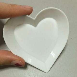 BLESS📬Brand New White Love Heart Shape Cute Tray / Plate