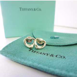 AUTHENTIC TIFFANY & CO OPEN HEART EARRINGS - IN SILVER