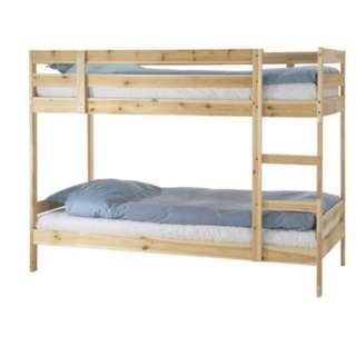 IKEA Bunk bed frame, pine, twin