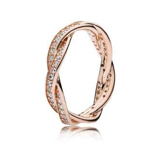 PANDORA TWIST OF FATE ROSE GOLD RING