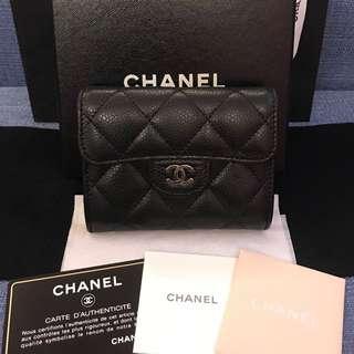 專櫃正品 9成新 Chanel 香奈兒 短夾 零錢包 卡片包❤