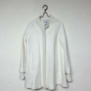 🚚 Zara 米白偏白 棒球長版大衣