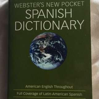 Pocket Size Spanish Dictionary
