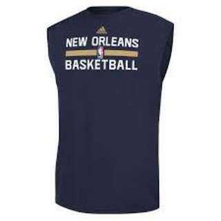 adidas NBA New Orlean Sleeveless practice shirt , 背心,雞翼袖 US Size S, HK size M