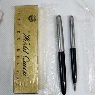 80年代  墨水筆,鉛筆(灰色和紅色) ,pm:5~7深水埗客務中心,老香港懷舊物品古董珍藏
