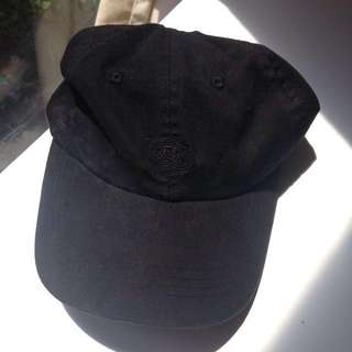 Black cap with embroidery