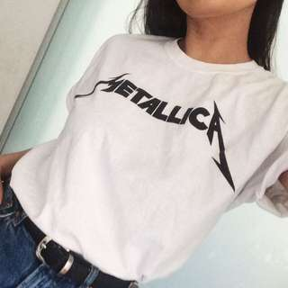 Metallica Loose White T-Shirt