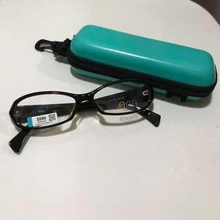 egg平光眼鏡(黑x紅框+紫x黑邊)✨全新✨ (🌎可用物品/現金券交換,請看內文)