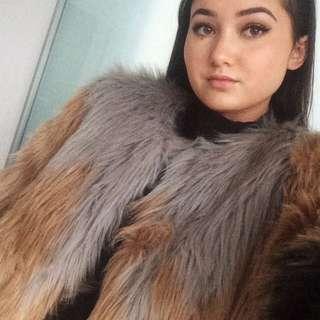 BNWT UO Faux Fur Coat