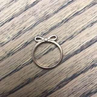 Rose gold Bow pandora ring